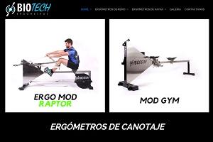 La marca de remos ergómetros Biotech estrena sitio web