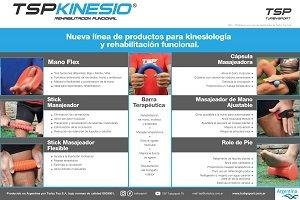 TSP Turby Sport lanzó accesorios de kinesiología y rehabilitación