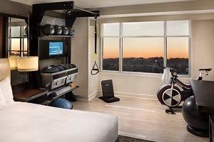 Hotel ofrece habitaciones con gimnasio
