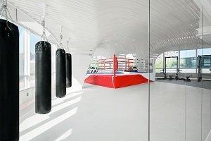 Se creó en China un gimnasio de Muay Thai con diseño futurista